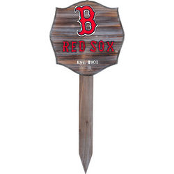 Boston Red Sox Wood Stake Garden Sign