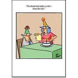 Wish From List Birthday Card