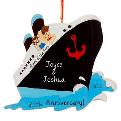 Personalized Cruise Ship Couple Ornament