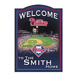 Personalized Philadelphia Phillies Welcome Wall Sign