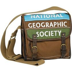 National Geographic Canvas Messenger Bag