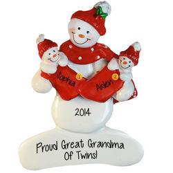 Proud New Great Grandma of Twins Ornament