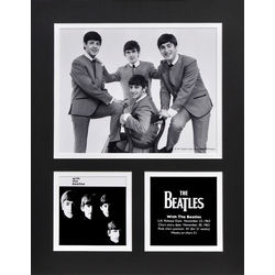 With the Beatles Matted Photo