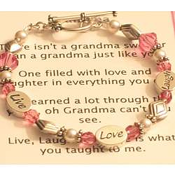 Grandmother's Live Laugh Love Bracelet