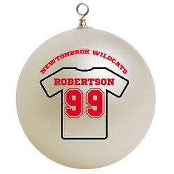 Personalized Sports Player Christmas Ornament