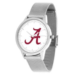 Alabama Crimson Tide Mesh Statement Watch in Silver