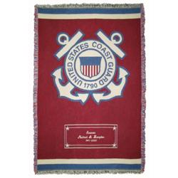 Personalized Coast Guard Throw