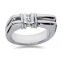 0.20 ctw Men's Diamond Ring in Palladium