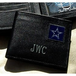 Personalized Black Leather Dallas Cowboys Wallet