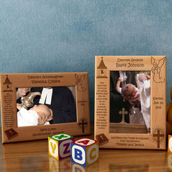 Personalized Godson/Goddaughter Wooden Picture Frame