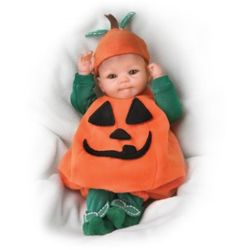 Tiny Miracles Pun'kin Halloween Realistic Baby Doll
