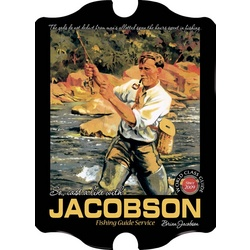 Personalized Vintage Fishing Guide Sign