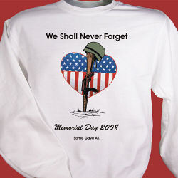 Memorial Day Personalized Sweatshirt