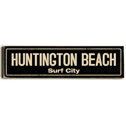 Antique Black Personalized Street Sign