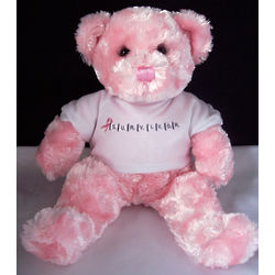 Breast Cancer Survivor Scrabble Teddy Bear