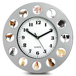 Farm Animal Clock