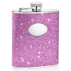 Glitter Purple Hip Flask