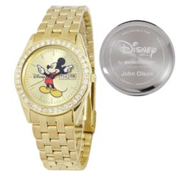Personalized Men's Disney Mickey Mouse Bling Watch