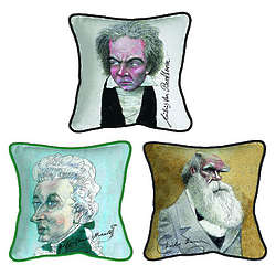 Decorative Iconic Caricature Pillow