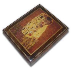 Abstract Romantic Couple Inlaid Music Box