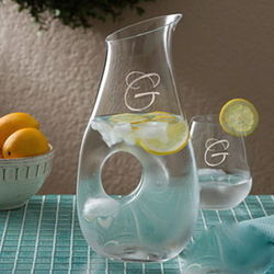 Fine Crystal Personalized Drink Pitcher