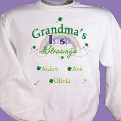 Irish Blessings Personalized Sweatshirt