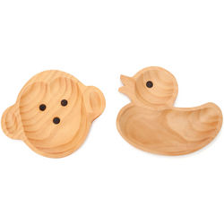 Monkey or Duck Wooden Plates
