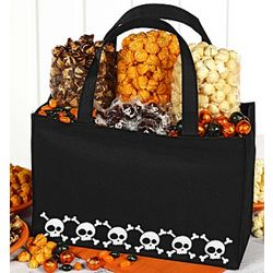 Skulls Tote Bag with Gourmet Popcorn