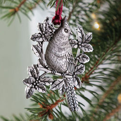 Solid Pewter Cardinal Ornament