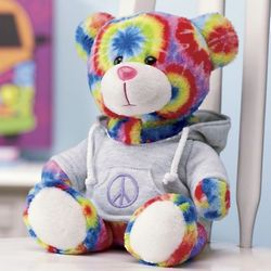 Peace Tie-Dyed Bear