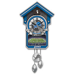 Detroit Lions Tribute Cuckoo Clock