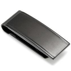 Chisel Engravable Brushed Black Money Clip