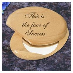Personalized Inspirational Wooden Compact Mirror