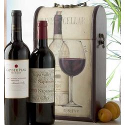 Evocative Double Wine Caddy