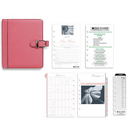Pink Ribbon Leather Desk Planner