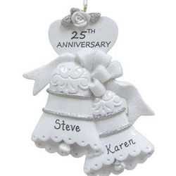 25th Anniversary Bells Christmas Ornament