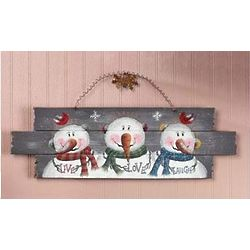 Live, Love, Laugh Snowmen Sign