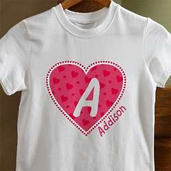 Personalized All My Heart Baby T-Shirt