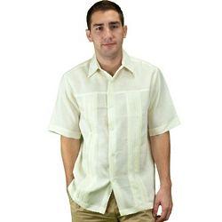 Men's Ivory Cuban Wedding Shirt