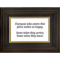 Everyone Who Enters Framed Art Print