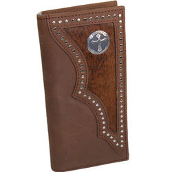 Leather Mens Horsehair Inlay Rodeo Wallet