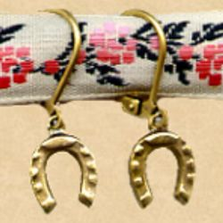 Dainty Horseshoe Earrings