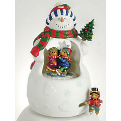 Ceramic Snowman Animated and Musical Figurine