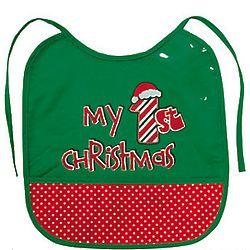 Baby's My 1st Christmas Bib