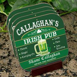 Personalized Irish Pub Pint Coasters