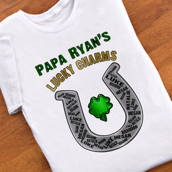 Grandpa's Lucky Charms Personalized T-Shirt
