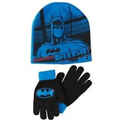 Batman Knit Hat and Gloves