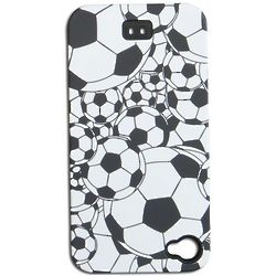 Black and White Soccer Balls iPhone Cover