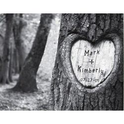 Personalized Tree of Love Print Canvas