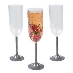 Silver Stem Champagne Glasses